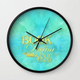 Book Dream Wall Clock