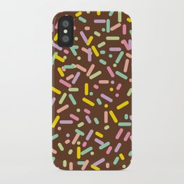 Sprinkled (Chocolate) iPhone Case