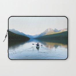 Kayaking on Bowman Lake Laptop Sleeve