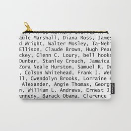 African American Literary Rebels Carry-All Pouch