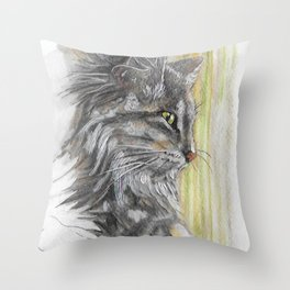 Siberian Cat Throw Pillow