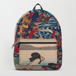 Utagawa Yoshitora - Genji Crossing the Oi River (1862) Backpack