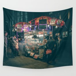 New york city Food Wall Tapestry