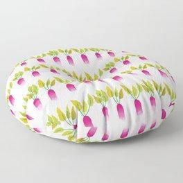 Radish pattern Floor Pillow