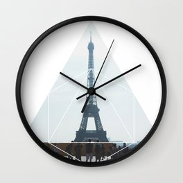 Eiffel Tower Art - Geometric Photography Wall Clock
