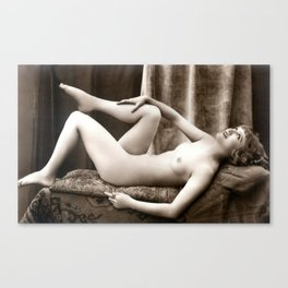 Vintage Nude Art Beauty No.106 of 250, from the Vintage Nude Arts Collection. Canvas Print