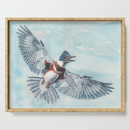 Belted Kingfisher Serving Tray