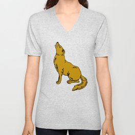 The Golden Coyote Unisex V-Neck