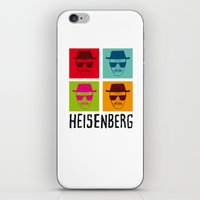 popart iPhone & iPod Skins featuring Heisenberg Popart by Nxolab