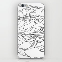 Alec and Echo Lake :: Single Line iPhone Skin