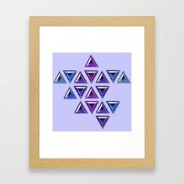 Cool Tones Gradient Trillion Pattern Framed Art Print