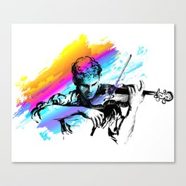 Violin player, violinist musician playing classical music. Music festival concert. Canvas Print