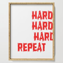 """Are You A Hard Working Person? A Perfect Tee For You Saying """" Mom Hard Wife HArd Work Hard Repeat"""" Serving Tray"""