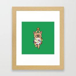 French Bulldog Merry Christmas Framed Art Print