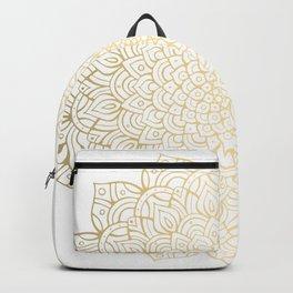 Unfolding Gold Mandala Backpack