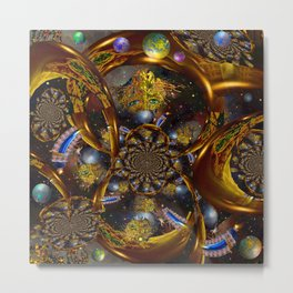 goldenmask Metal Print