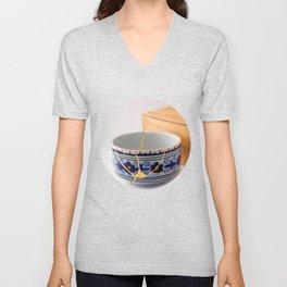 Kintsuqi Bowl #1 Unisex V-Neck
