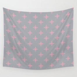 Ornamental Pattern with Grey and Pink Colourway Wall Tapestry