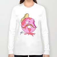 donut Long Sleeve T-shirts featuring Donut by De Leon Clothing