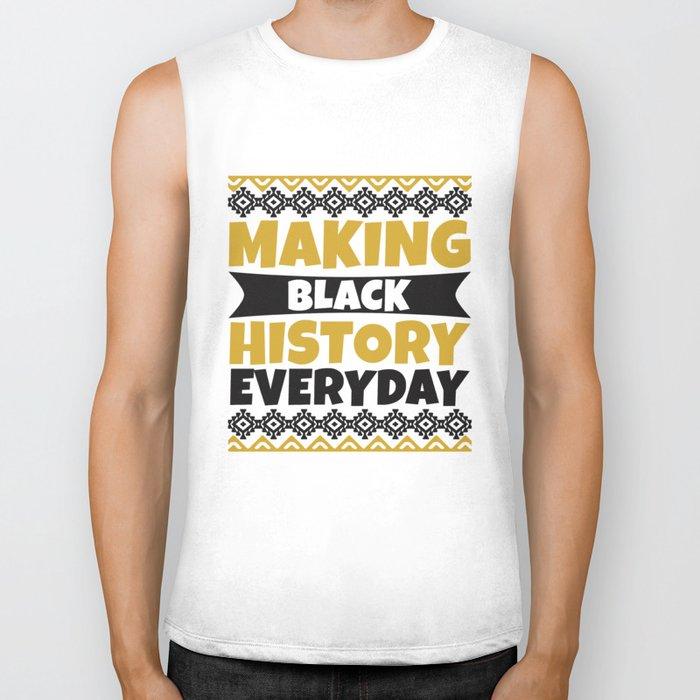 Black History Month African American Black Pride Shirt Light Biker Tank