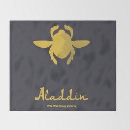 Aladdin, minimal movie poster, 1992 classic animated movie, Robin Williams, princess Jasmine, Jafar Throw Blanket