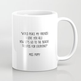 Miss Puppy Goes to Mexico Coffee Mug