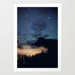 Stars over Half Dome Art Print