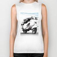 racing Biker Tanks featuring Racing by Don Paris Schlotman