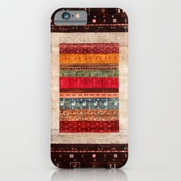 Bohemian Oriental Traditional Moroccan Rug Style Illustration iPhone Case