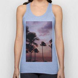 Palm Tree Sunset Unisex Tank Top