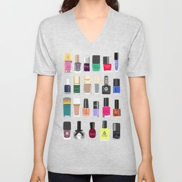 My nail polish collection art print Unisex V-Neck