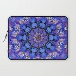 Summer sky Delphinium mandala Laptop Sleeve