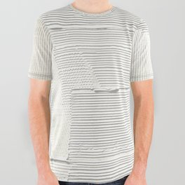 Relief [1]: an abstract, textured piece in white by Alyssa Hamilton Art All Over Graphic Tee