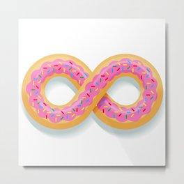 Infinity Donut Metal Print