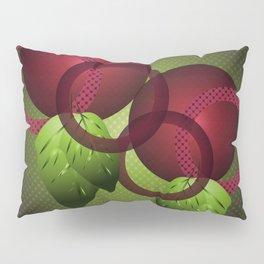 Raspberry with Basil Pillow Sham