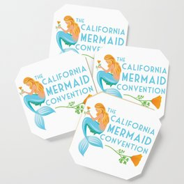 Simple Logo ·•· California Mermaid Convention Coaster