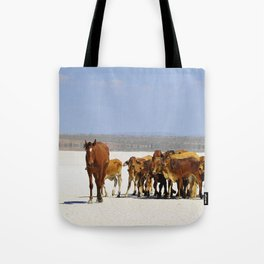 Leading the mob home Tote Bag