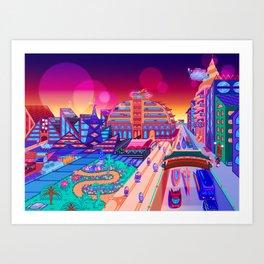 Dreamland City Art Print