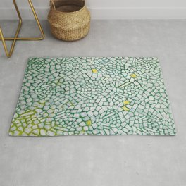 African American Masterpiece White Roses Sing! by Alma Thomas Rug
