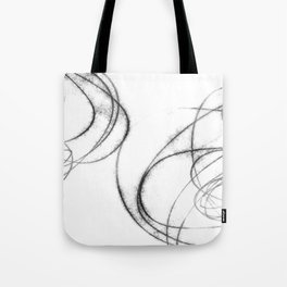 Minimalist Abstract Black and White Line Drawing Tote Bag