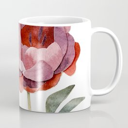 maroon watercolor peony Coffee Mug