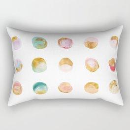 Painted Dots & Gold Rectangular Pillow