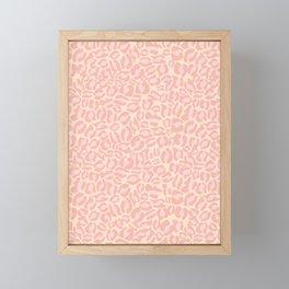 Leopard Print | Pastel Pink Girly Bedroom Cute | Cheetah texture pattern Framed Mini Art Print