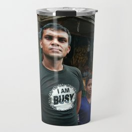 I Am Busy Travel Mug