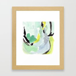 Twirl Green: Abstract Painting Framed Art Print
