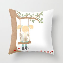 On the Swing, In the Tree Throw Pillow