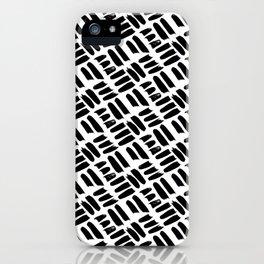 Black + White Brushwork iPhone Case