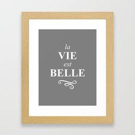 La Vie est Belle Storm White Framed Art Print