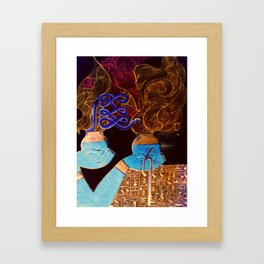 Egyptian Love Smoke Framed Art Print