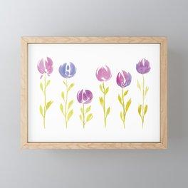 Floral Stems | Original Colours Framed Mini Art Print